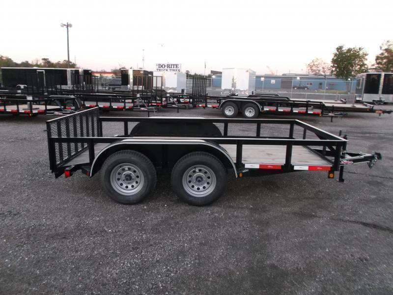 2019 Longhorn Trailers 12ft Tandem Axle Utility Trailer / 2ft Dovetail / 2ft Ramp