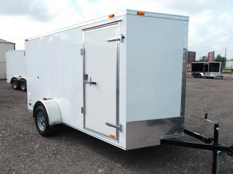 2014 Continental Cargo 6x12 Tandem Axle Cargo / Enclosed Trailer