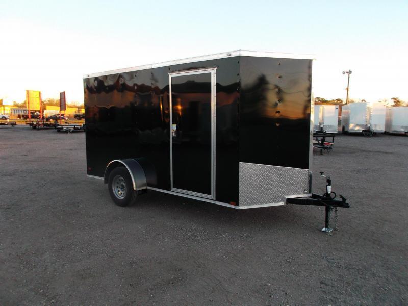 2016 Spartan Cargo Trailer 6x12 Single Axle Cargo / Enclosed Trailer w/ Ramp Gate