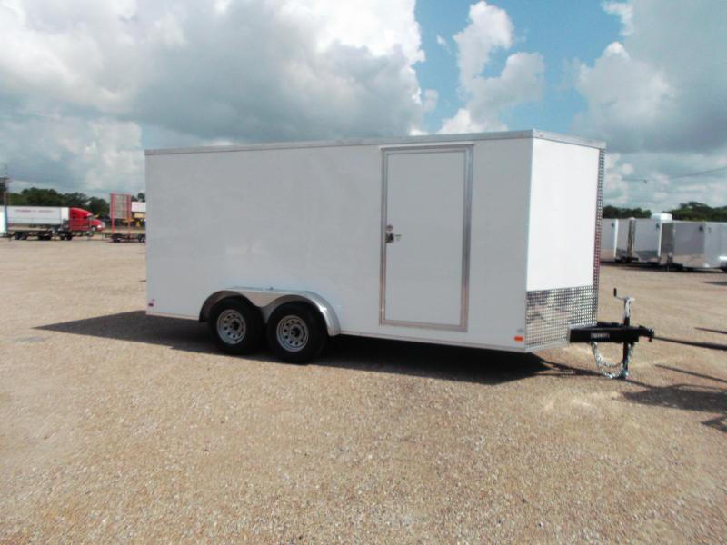 """SPECIAL - 2019 Covered Wagon Trailers 7x16 Tandem Axle Cargo / Enclosed Trailer / 6'6"""" Interior / 5200# Axles / Ramp / LEDs"""