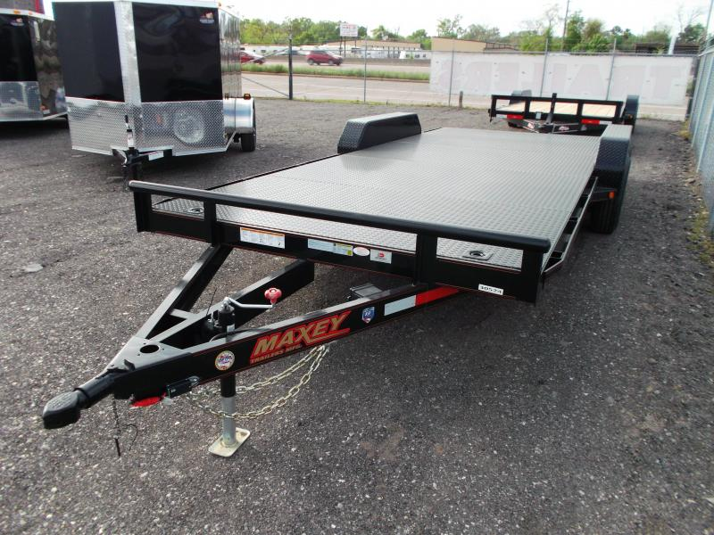2014 Maxey 83x20 10K Steel Deck Car Hauler Trailer