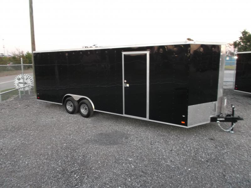 2019 Covered Wagon Cargo 8.5x24 Tandem Axle Cargo Trailer / Enclosed Car Hauler Trailer / 5200# Axles / Ramp / RV Door / LEDs