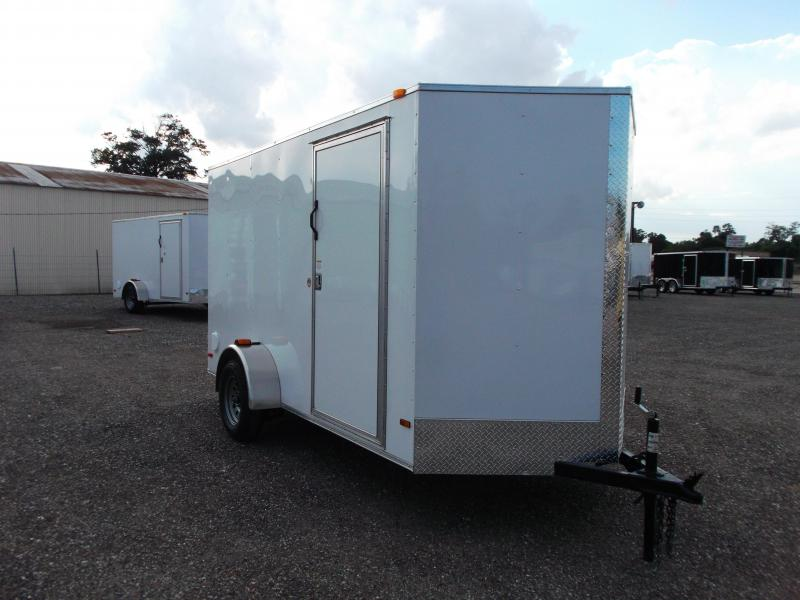 2015 Covered Wagon Trailers 6x12 Single Axle Cargo / Enclosed Trailer w/ Height Increase