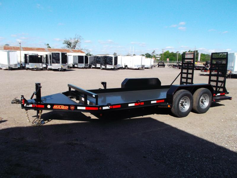 2018 Maxxd Trailers 82x16' Skid-Steer / Bob Cat Trailer Equipment Trailer / Steel Deck / Equipment Ramps / Powder Coated