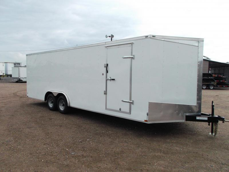 2018 Lark 8.5x24 Tandem Axle Cargo Trailer / Enclosed Trailer / Car Hauler / 5200# Axles / Ramp
