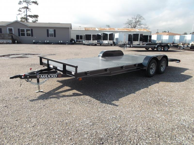 2016 Maxey 83x18 Steel Deck Car / Racing Trailer w/ 4ft Dovetail