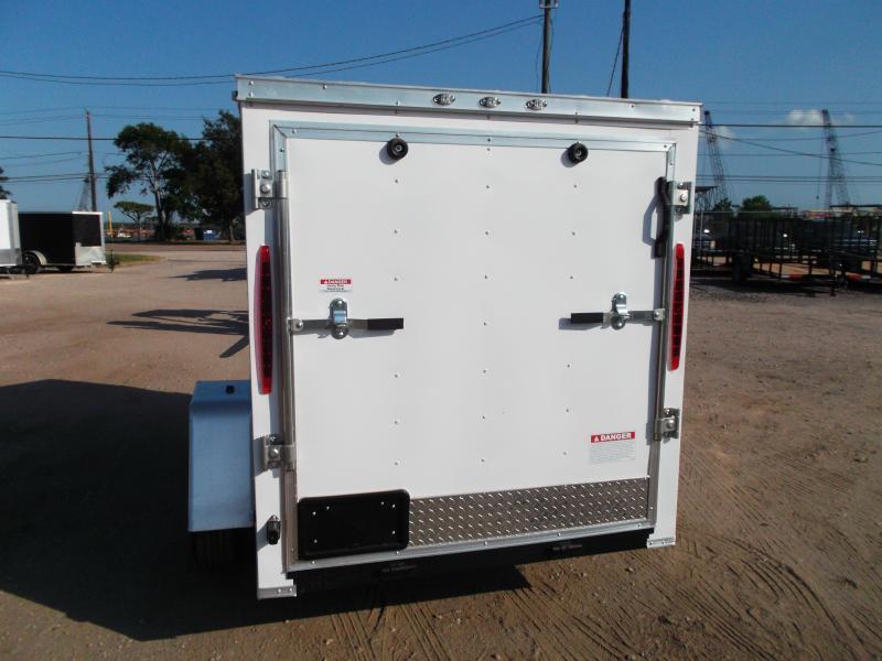 2019 Texas Select 5x8 Single Axle Cargo Trailer / Enclosed Trailer / Ramp / Vnose Door / LEDs