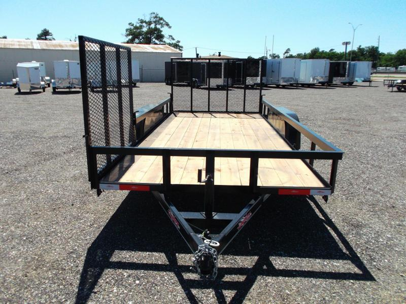 2014 Longhorn Trailers 16ft Utility Trailer w/ Side Load Ramp Gate