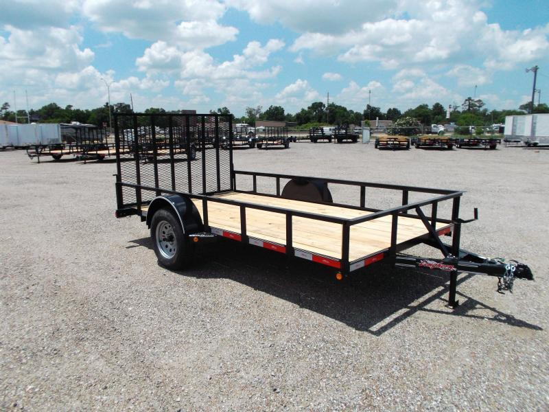 2015 Longhorn Trailers 77x12 Single Axle Utility Trailer w/ Heavy Duty 4ft Ramp