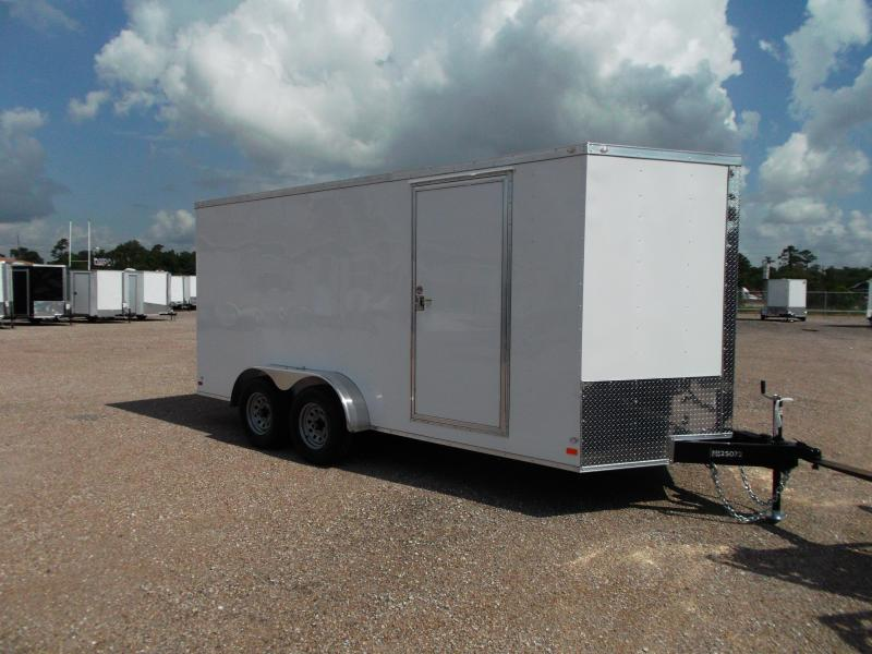 2016 Covered Wagon Trailers 7x16 Tandem Axle Cargo / Enclosed Trailer w/ 6'6