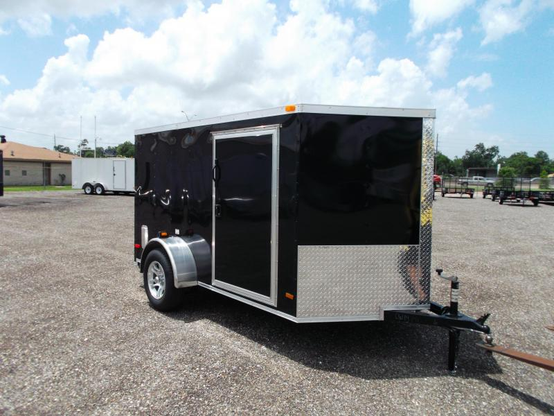 2015 Covered Wagon Trailers 6x10 Single Axle Motorcycle Trailer