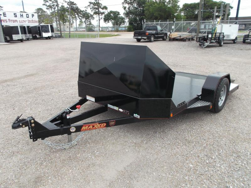 2016 Maxey 82x10 (1 - 3) Bike Motorcycle Hauler Motorcycle Trailer w/ Rock Guard
