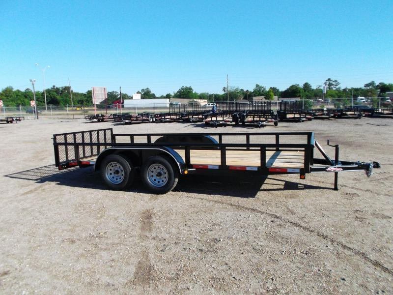 2018 Longhorn Trailers 16ft Utility Trailer w/ Pipetop / 2ft Dovetail / 2ft Ramp Gate