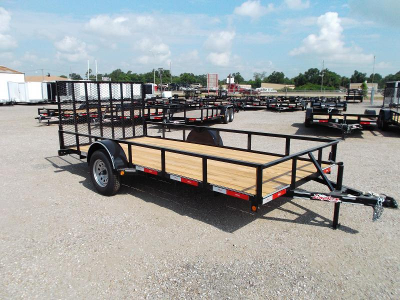 2016 Longhorn Trailers 77x14 Single Axle Utility Trailer w/ 4ft Heavy Duty Ramp Gate