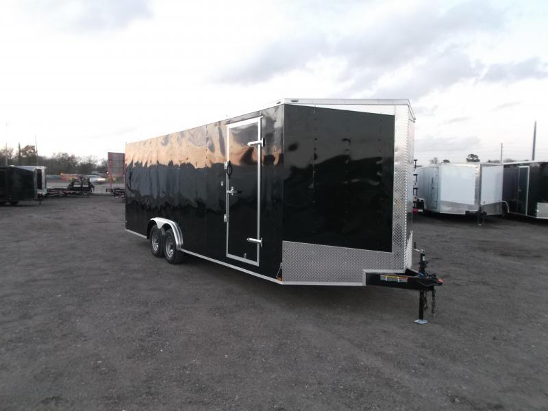2018 Lark 8.5x24 Tandem Axle Cargo Trailer / Enclosed Trailer / Car Hauler / 5200# Axles / 7ft Interior / Ramp