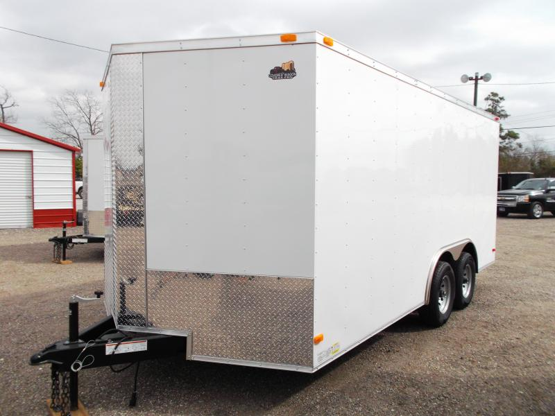 2015 Covered Wagon Trailers 8.5x16 Cargo / Enclosed Trailer