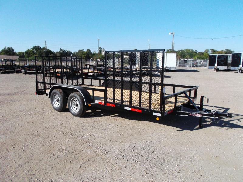 2016 Longhorn Trailers 16ft Utility Trailer w/ Side Load Ramp Gate