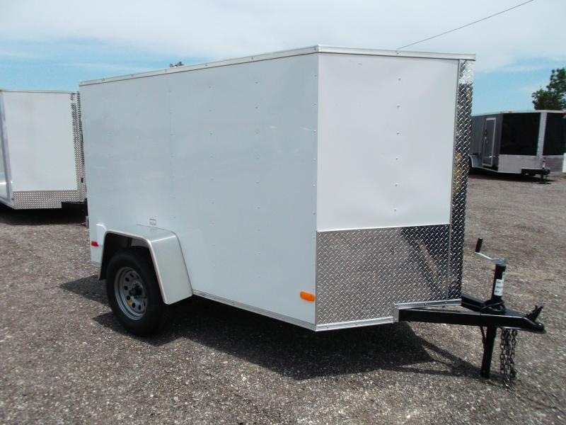 2014 Covered Wagon Trailers 5x8 Single Axle Cargo / Enclosed Trailer