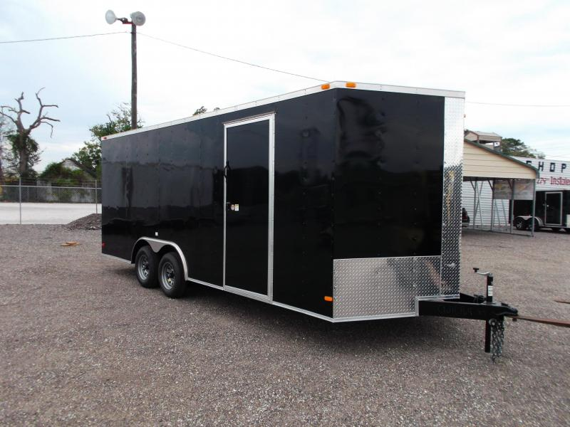2015 Covered Wagon Trailers 8.5x20 Tandem Axle Cargo / Enclosed Trailer w/ 7ft Interior