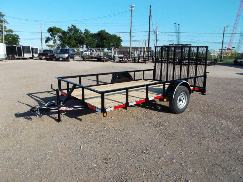 2019 Longhorn Trailers 77x12 Single Axle Utility Trailer / 2ft Dovetail / Heavy Duty 4ft Ramp Gate