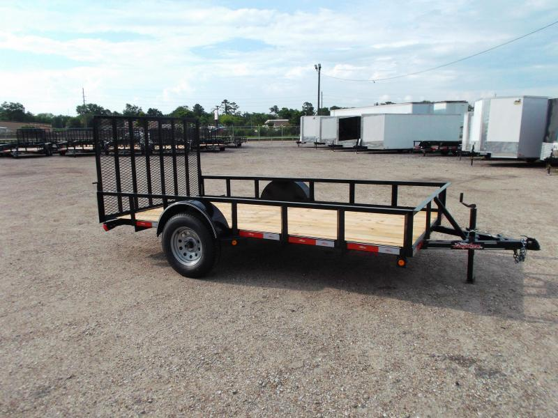 2019 Longhorn Trailers 77x12 Single Axle Utility Trailer w/ Heavy Duty 4ft Ramp