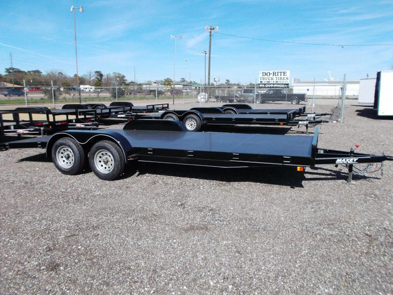 2015 Maxey 83x18 Steel Deck Car / Racing Trailer w/ 4ft Dovetail