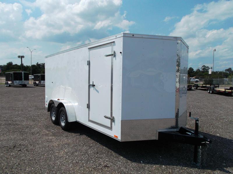 2015 Continental Cargo 7x16 Tandem Axle Cargo / Enclosed Trailer