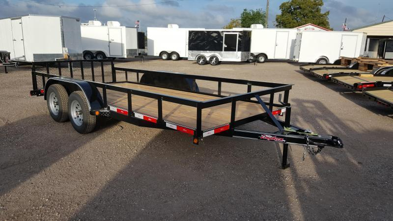 2016 Longhorn Trailers 14ft Utility Trailer w/ 2ft Dovetail & 2ft Ramp