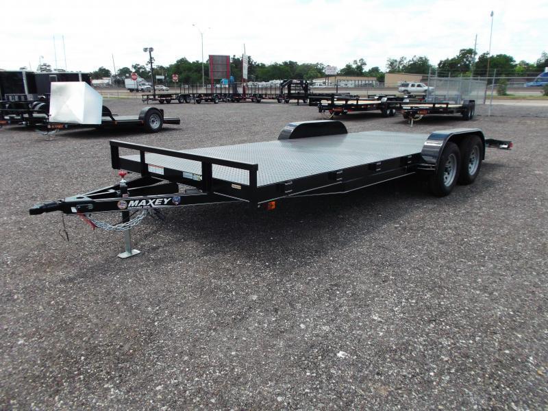 2015 Maxey 83x20 Steel Deck 7K Car / Racing Trailer