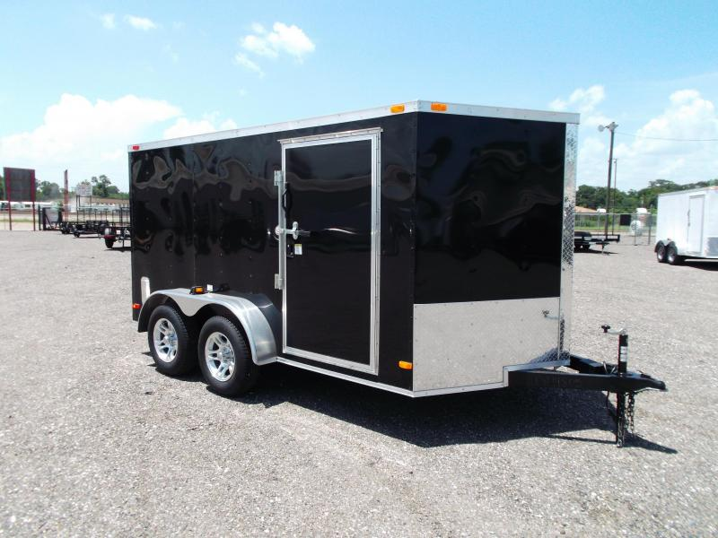 2015 Covered Wagon Trailers 7x12 Tandem Axle Semi-Low Profile Motorcycle Trailer