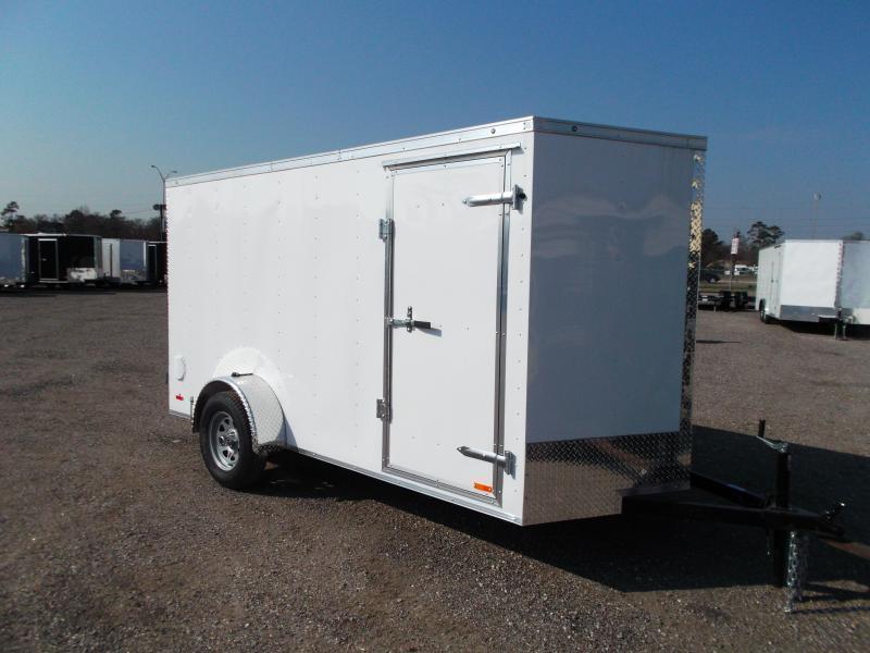 2016 Continental Cargo 6x12 Single Axle Cargo / Enclosed Trailer