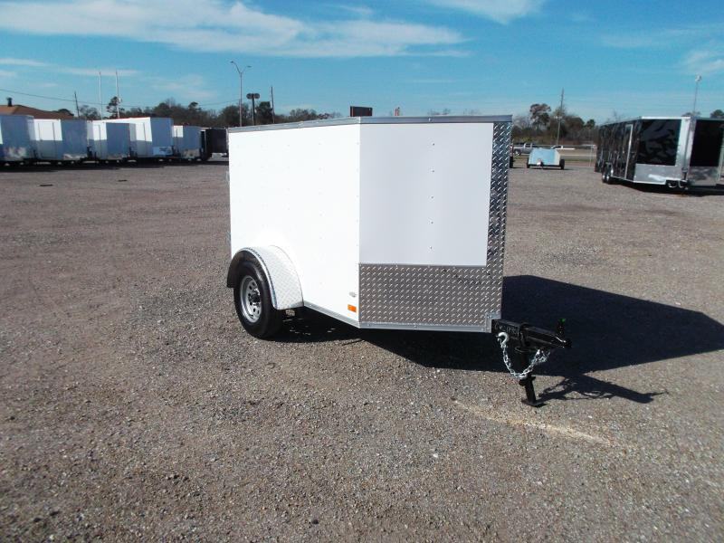 2017 Covered Wagon Trailers 4x6 Single Axle Cargo / Enclosed Trailer