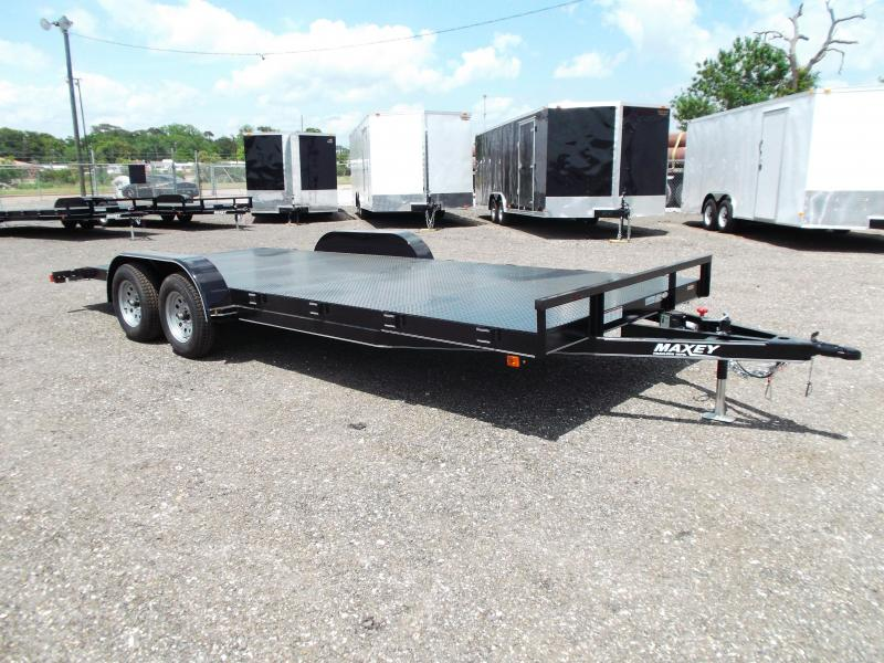 2014 Maxey 83x20 Steel Deck Car / Racing Trailer