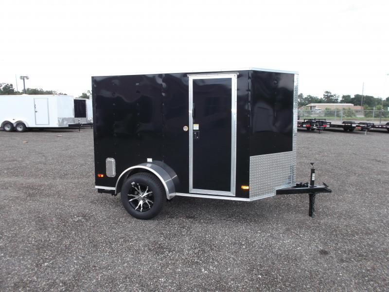 2016 Covered Wagon Trailers 5x8 Single Axle Motorcycle Trailer