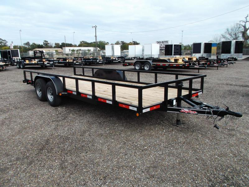 2018 Longhorn Trailers 83x20 Utility Trailer w/ 5200# Axles / Brakes / 5ft Ramps
