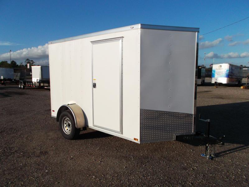 2016 Spartan Cargo Trailer 6x10 Single Axle Cargo / Enclosed Trailer w/ V-Nose & Ramp