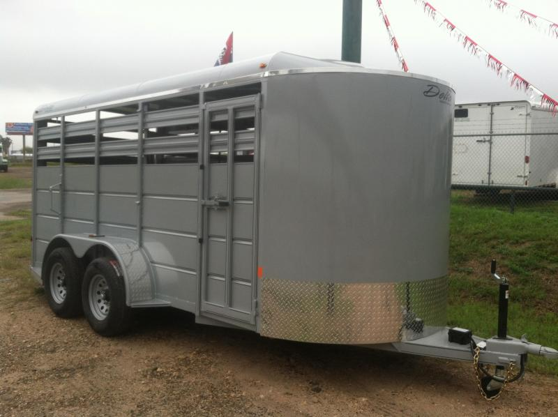 2014 Delta Manufacturing 6X16 CATTLE Stock / Stock Combo Trailer