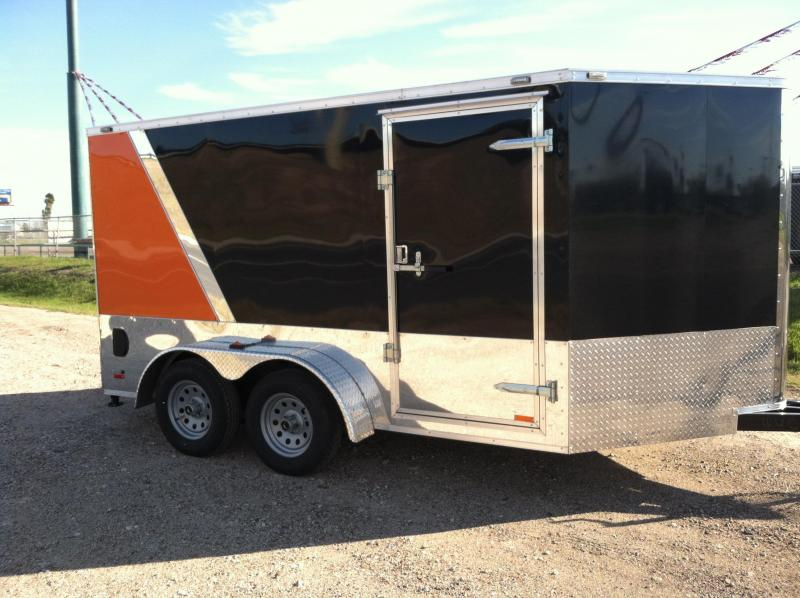 2014 Cargo Mate 7X14 CUSTOM Motorcycle Trailer
