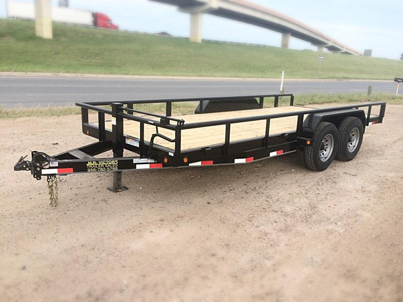 2018 MR VICTORS 83X18 HEAVY DUTY TRAILER