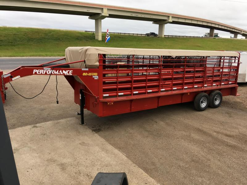 2019 Performance Trailers 80 X 24 Livestock Trailer