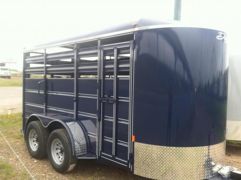 2014 Delta Manufacturing 5X14 CATTLE Stock / Stock Combo Trailer