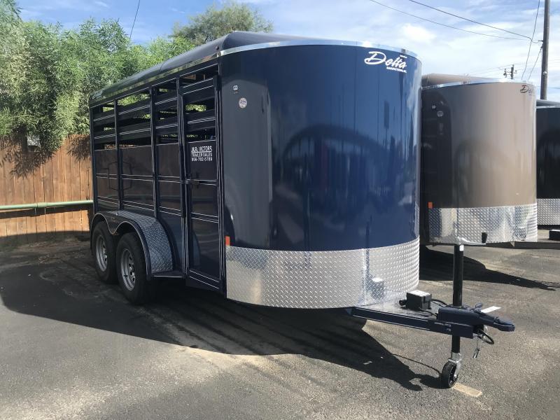 2020 Delta Manufacturing 6 x 14 Cattle Livestock Trailer