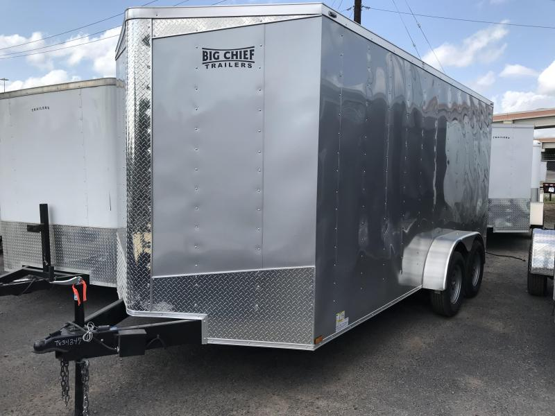 2019 LARK 7 X 16 ENCLOSED TRAILER