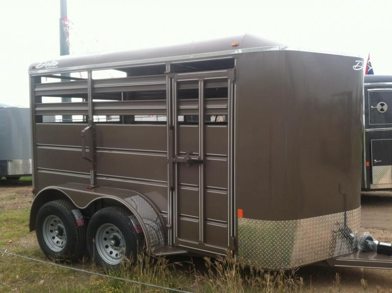 2014 Delta Manufacturing 6X12 CATTLE Stock / Stock Combo Trailer