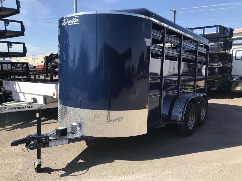 2019 DELTA 6' X 14' 500 ES CATTLE TRAILER