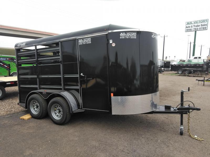 2019 Delta Manufacturing 6X16 Horse Trailer