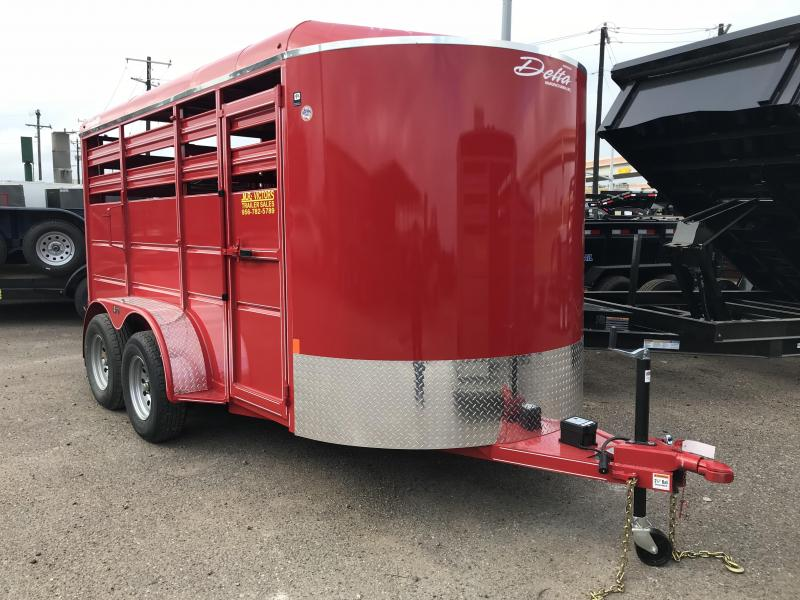 2019 DELTA 6X14 CATTLE STOCK TRAILER