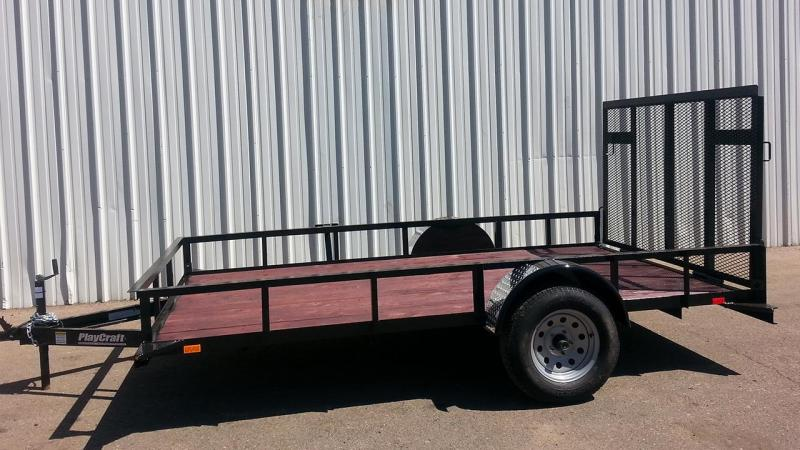 2017 Playcraft 77X14 Utility Trailer