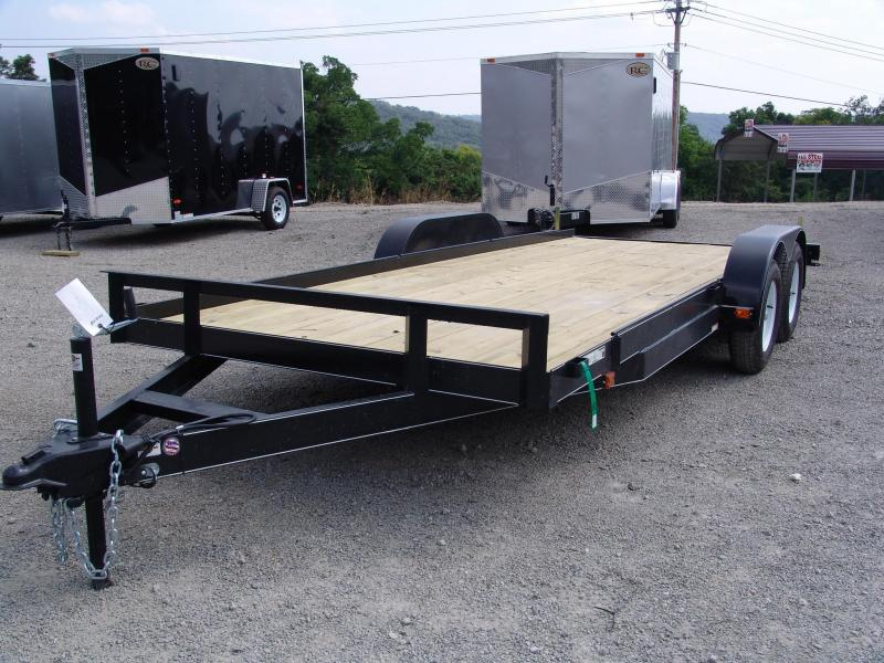 2014 Carry-On 7x18 Car Hauler Brakes on Both