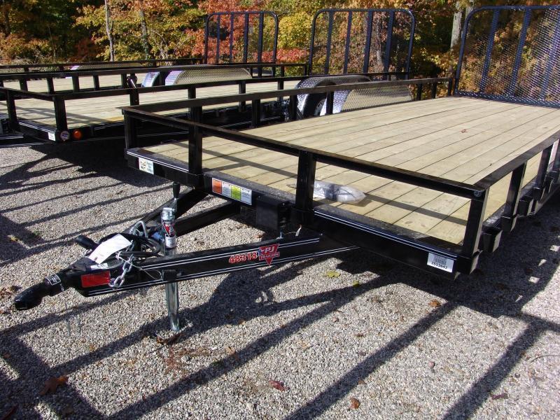 2015 PJ U8 18' x 83' Utility Trailer Ramp Gate Tandem